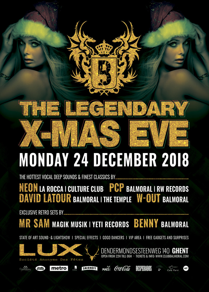 The Legendary X-Mas Eve - Mon 24-12-18, Zaal Lux