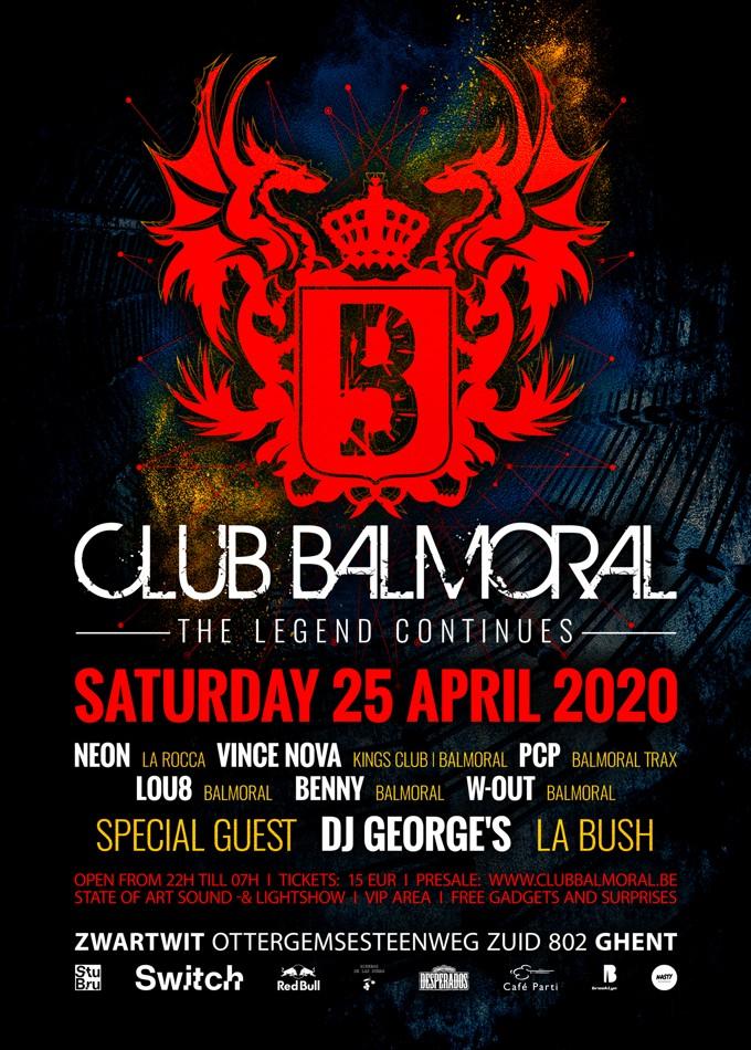 Club Balmoral – The legend continues - Sat 25-04-20, ZwartWit